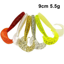 90mm 5.5g 10pcs/lot Classic Flexible Soft Lures Swimbaits Artificial Bait Silicone Lure Fishing Tackle Fishing Lures