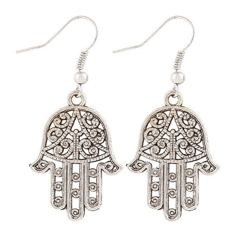 New fashion jewelry Punk style vintage sliver palm earrings dangle earring best gift for gril wholesale