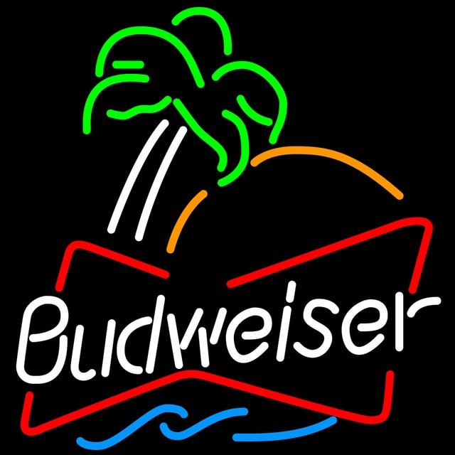 Budweiser Sing Glass Neon Light Sign