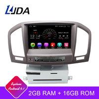 LJDA Android 9.1 Car DVD Player For Opel Vauxhall Insignia 2009 2010 2011 2012 GPS Navi 2 Din Car Radio Multimedia WIFI Stereo