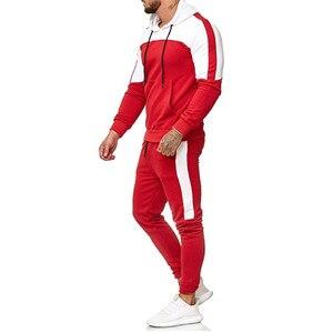 Image 5 - 2018 nuevo casuales hombres camuflaje impresso Patchwork chaqueta hombres chaqueta de piezas 2 chandal ropa deportiva sudaderas