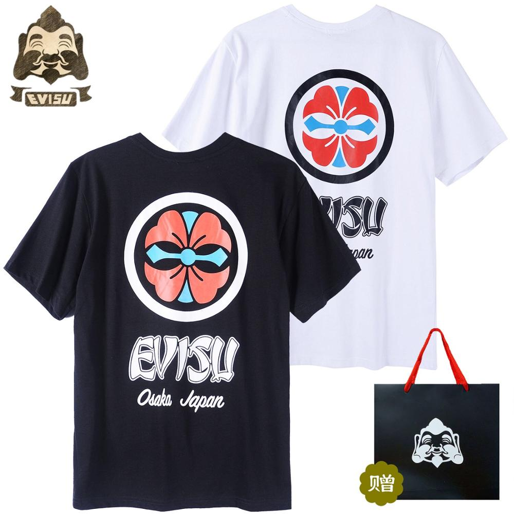 Evisu Behind The Joint Name Logo Mens Casual Summer Short-Sleeved Fashion Men Women Lovers Two-color Vest H608