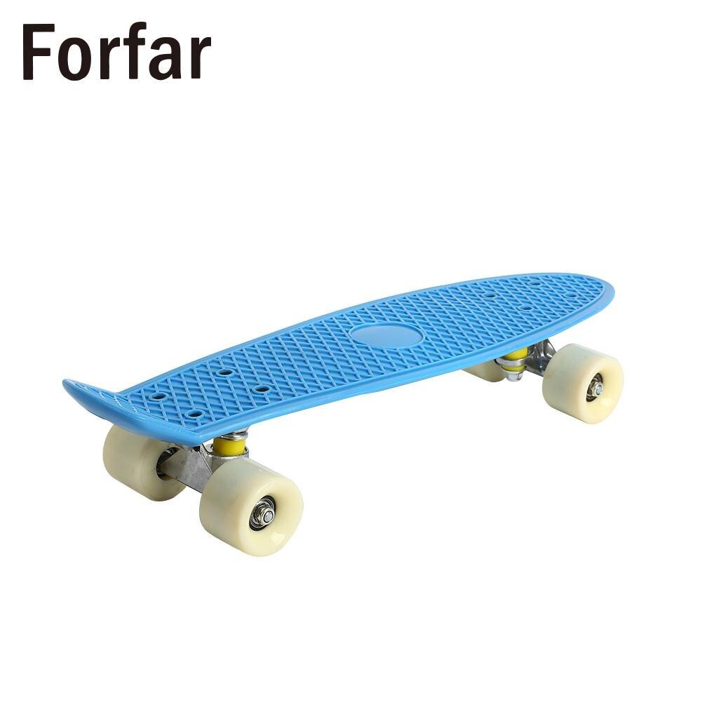 Pratique Skate Board Adolescents Quatre Roues De Planche À Roulettes Planche À Roulettes Pont À Bascule Unique Durable 3 couleur Hoverboard Portable