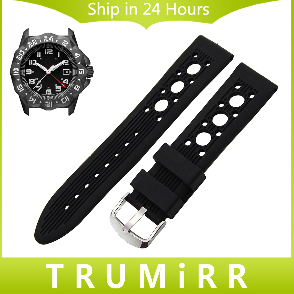 цена  Silicone Rubber Watchband 20mm 22mm 23mm for Luminox Sea Air Land Space Men Women Watch Band Belt Wrist Strap Bracelet Black Red  онлайн в 2017 году
