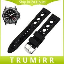 Silicone Rubber Watchband 20mm 22mm 23mm for Luminox Sea Air Land Area Males Girls Watch Band Belt Wrist Strap Bracelet Black Crimson