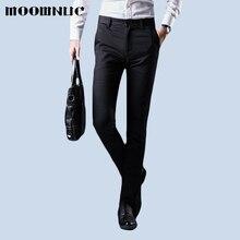 цена на Fashion Trousers Men Pant No ironing Winter Autumn Full Length MOOWNUC Casual Fit Business Suit Pant Youth Men MWC Gentleman