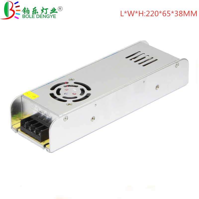 Ultra cienki DC 12 V zasilacz AC 220 V do DC zasilacz impulsowy 3A 5A 10A 15A 20A 30A transformator oświetlenia do taśmy LED