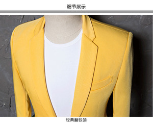 Image 4 - PYJTRL Mens Classic Plus Size 5XL Yellow Suit Jacket Fashion Casual Blazer Designs Costume Homme Stage Clothes For Singers