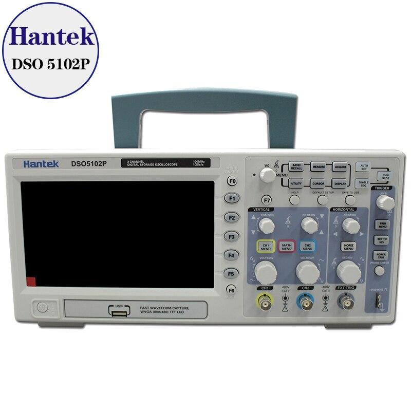 Цифровой осциллограф Hantek DSO5102P, 100 МГц, 2 канала, частота дискретизации в реальном времени 1 ГГц/с, подключение USB хоста, экран 7 дюймов|hantek dso5102p|hantek dso5102p digital oscilloscopedigital oscilloscope 100mhz | АлиЭкспресс