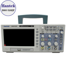 Nieuwe Hantek DSO5102P Digitale Oscilloscoop 100 Mhz 2Channels 1gsa/S Real-Time Sample Rate Usb Host En Device connectiviteit 7 Inch(China)