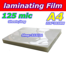 laminating film  A4  photo paper 50mic 20SHEETS/BAG 50mic 4mil 5r a6 a4 size pvc clear glossy 2flap laminating pouch film for hot laminator superplastic film