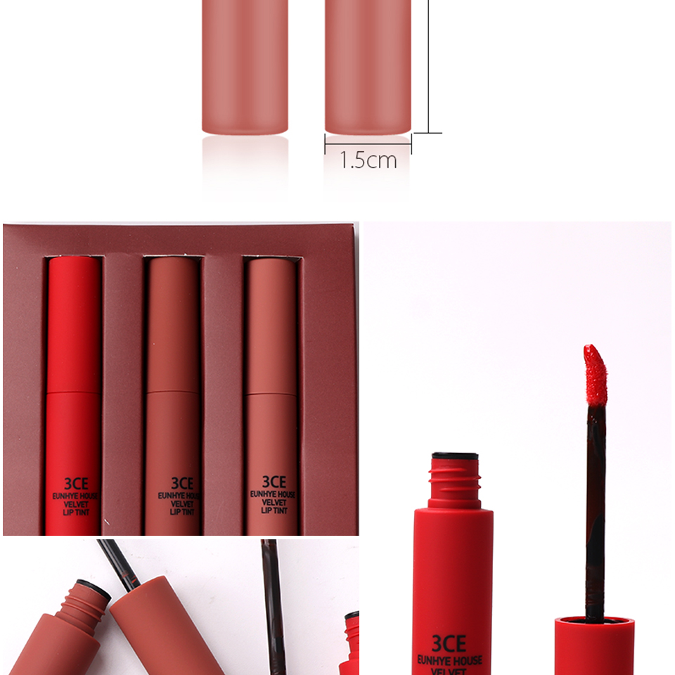 3ce Eunhye House Matte Lip Gloss Set Liquido Easy To Wear Long Mini Lipstick Lasting Batom 3 Color In 1 Lipsticks Liquid Makeup