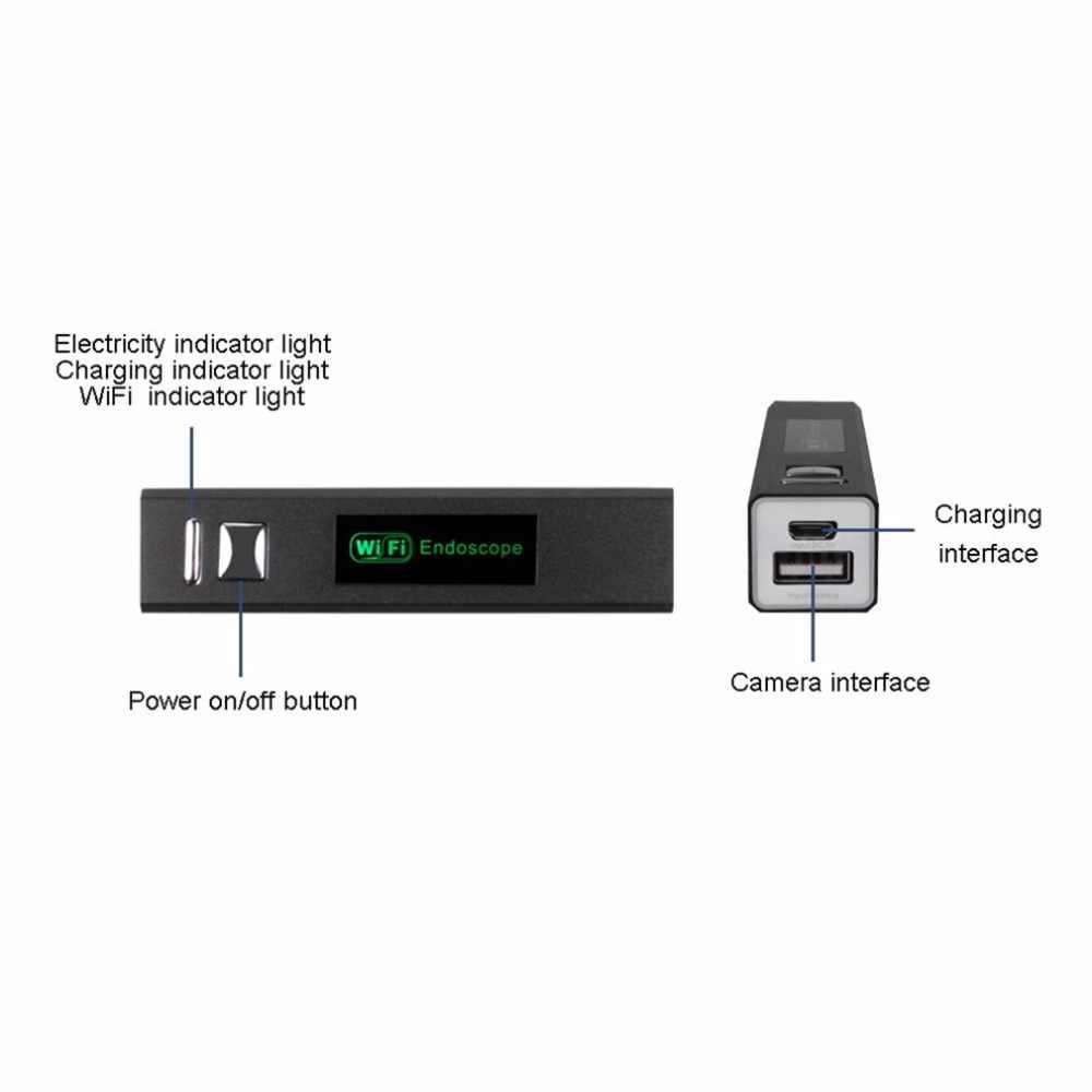 Endoscoop HD 1200P Verstelbare 8 LED Wifi Endoscoop Camera 8.0mm Met Harde Kabel IP68 1M 2M 3.5M 5M 10M Voor Android Voor ios