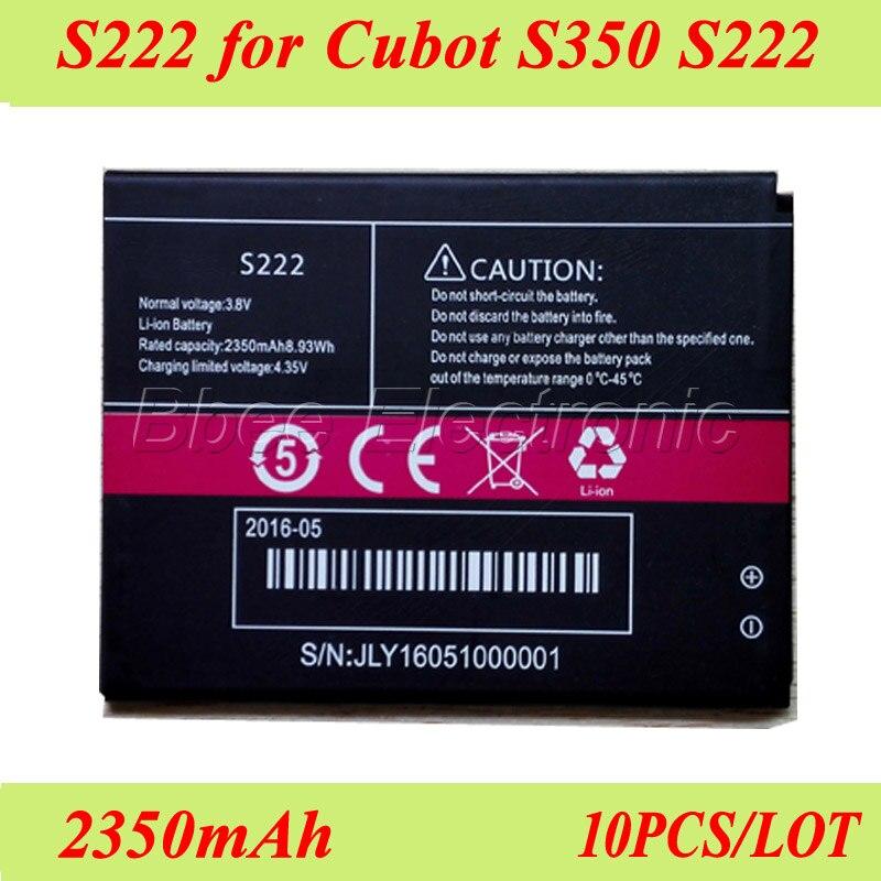 10 PCS/LOT S222 pour Cubot S350 S222 Batterie 100% Original haute qualité 2350 mAh Batterie Bateria AKKU accumulateur ACCU PIL-in Batteries de téléphone portable from Téléphones portables et télécommunications on AliExpress - 11.11_Double 11_Singles' Day 1