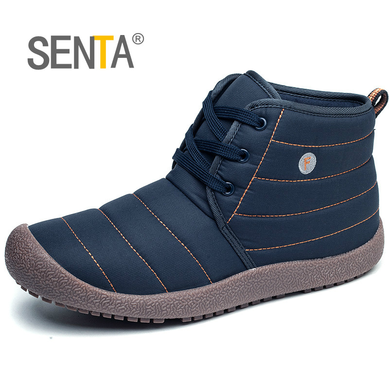 Winter Snow Boots Warm Cotton-padded Shoes Big Size Men Waterproof Running Shoes Women Outdoor Lightweight Sport Walking Shoes