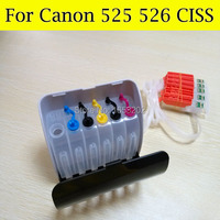 525 526 Ciss System For Canon IP4850 MX885 6550 Printer With Auto Reset Chip And Tubo Tube