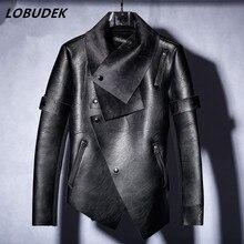 2017 männlichen kostüm S-XXXL größe jacke blazer mode oberbekleidung Wildleder verdickt lederjacke tänzerin prom zeigen sänger bar