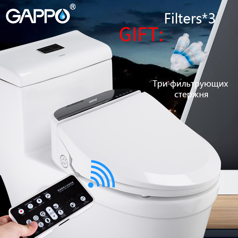 GAPPO siège de toilette intelligent siège de toilette intelligent bidet électrique siège de toilette chauffant nettoyage à sec Massage soin pour enfant femme le vieux