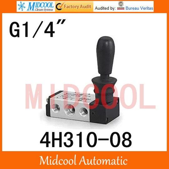 High quality hand-Pull valve manual valve SHAKO port 1/4 4H310-08 control Manual valve high quality hydraulic valve cvi 32 d10 h 40