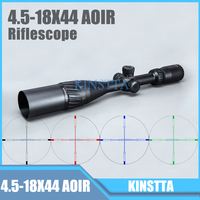 Tactical 4 5 18X44 AOIR Red Green Blue Color Reticle Optics Riflescope Illumination Rifle Scope For