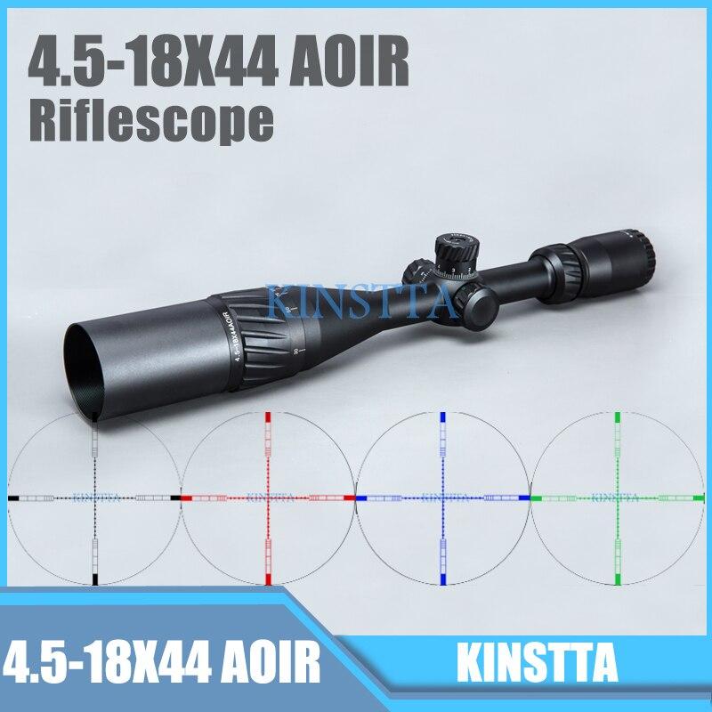 Tactical 4.5-18X44 AOIR Red Green Blue Color Reticle Optics Riflescope Illumination Rifle Scope For Hunting CS battle stinger banzai 18 2016 х72830 к blue red