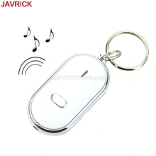 White LED Key Chain Sound Whistle Control Key Finder Locator Find Lost Key Ring llaveros chaveiro sleutelhanger portachiavi