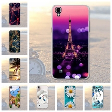 Soft TPU Cases For LG X power K210 K220 LS755 Cases Flower Tower Back Cover Skin For LG X Power K220DS Bags 3D Relief Fundas