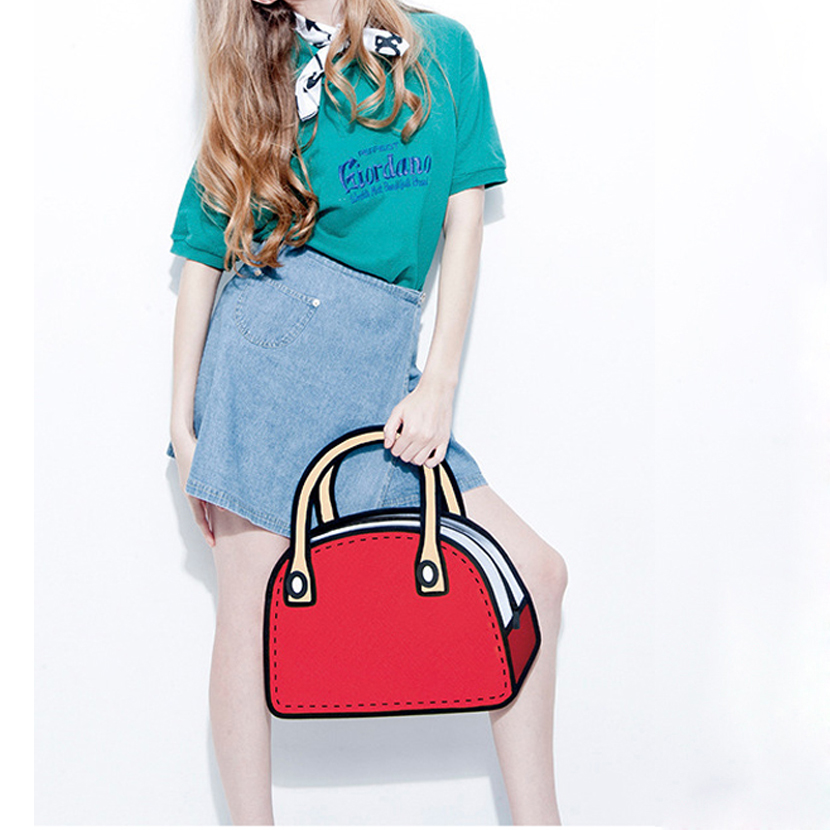 Detail Feedback Questions about Large Size Women Handbags 3D Comic Creative  Bag Wholesale Retail Recruitment Agent Cartoon Fashion Style Drop Shipping  on ... 8a75634f534b9