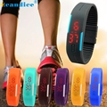 Splendid New Ultra Thin Men Girl Sports Electronic Wristwatches Silicone Digital LED Sports Wrist Watch  Relojes Hombre