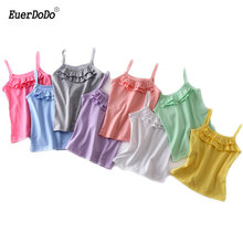Summer Girls T shirts Cotton Shirts For Kids Tops For Girls 2 8T Children Underwear Baby Camisole Toddler Singlets-in Tees from Mother & Kids on AliExpress