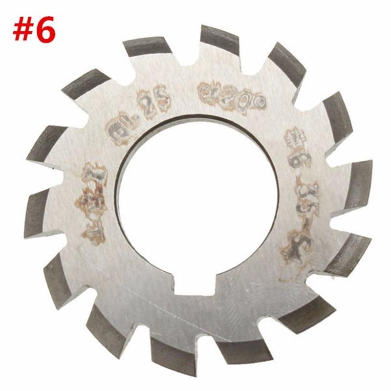 Diameter 22mm M1.25 20 Degree #6 34-54 Gear Involute Gear Cutters HSS Module High Speed Steel HOT  цены