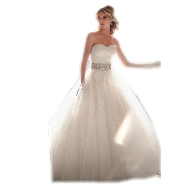Famous Designer Beaded Sash Lace Organza Princess Wedding Dresses ...