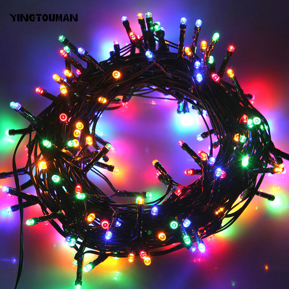 YINGTOUMAN Solar Christmas Lights 22m 200 LED Solar Fairy String Lights For Outdoor Wedding Christmas Party Lamps ...