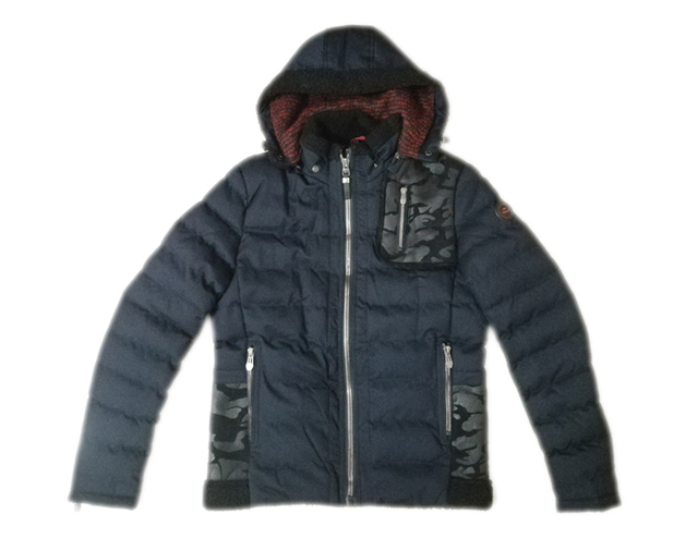 Men's high quality wear fashion classic casual outdoor  bonded sherpa padding hoody jackets with detached hood  brass zipper