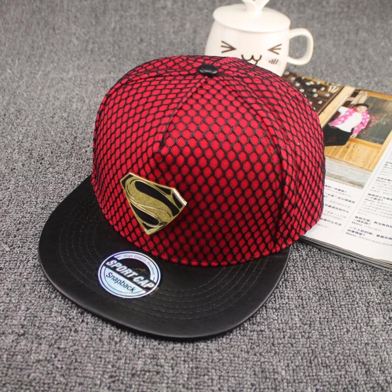2016 New Fashion Summer Brand Superman Baseball Cap Hat For Men WomenTeens  Casual Bone Hip Hop Snapback Caps Sun Hats-in Baseball Caps from Apparel ... 3d20ee0485a3