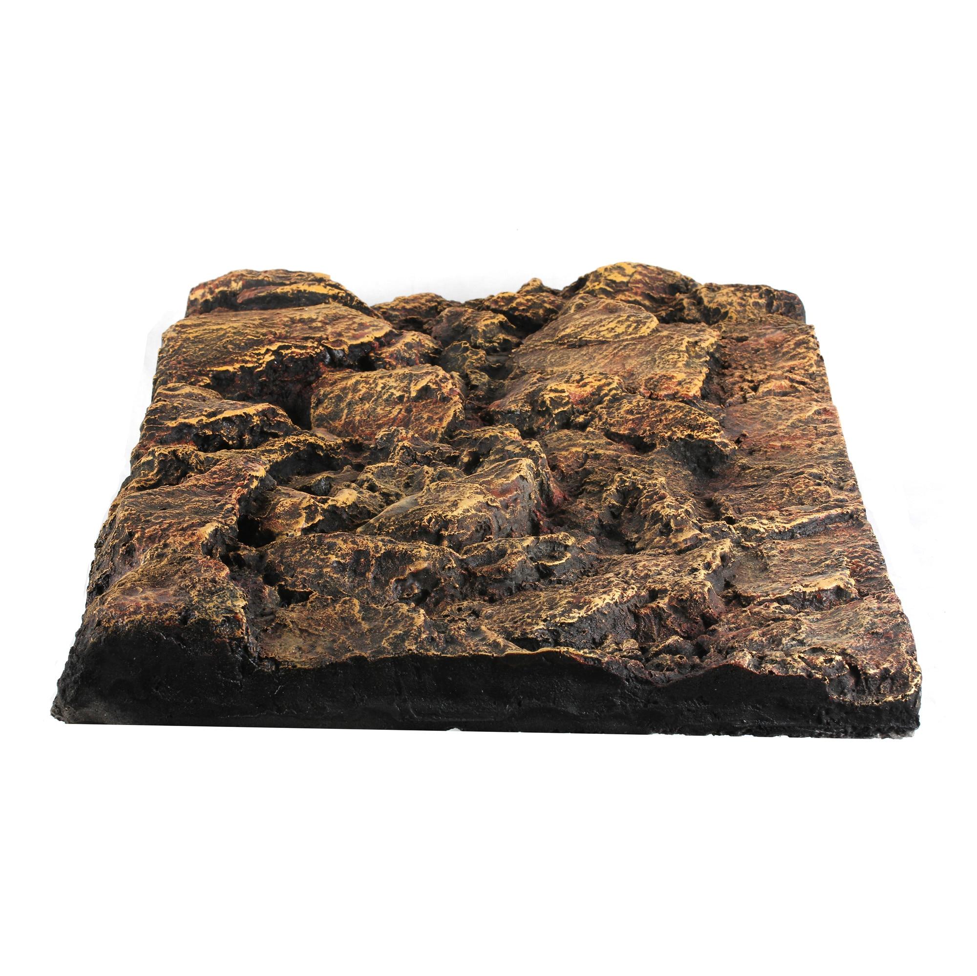 Terrarium Aquarium Reptile boîte décoration énorme roche 3D fond motif pet Gecko lézard poisson tortue tarentule grenouille Vivarium