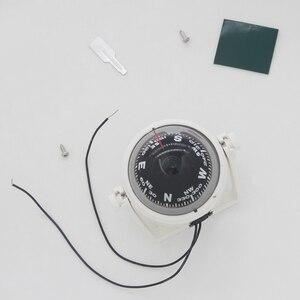 Image 3 - Boussole de Navigation pour voile, blanc/noir, pour bateau, 12V, LED