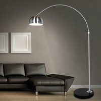 Stainless steel floor lamp fishing lamp brief mahjong light remote control piano table lamp / XY20051 trumpet