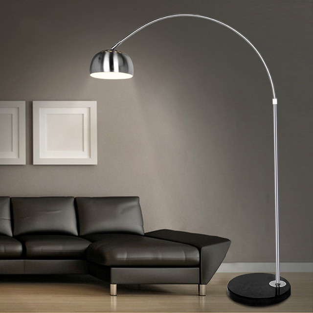 Merveilleux Stainless Steel Floor Lamp Fishing Lamp Brief Mahjong Light Remote Control  Piano Table Lamp / XY20051