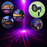 High quality blue red 9 patterns lawn laser lamp outdoor waterproof lamp ground lamp Christmas tree lamp string