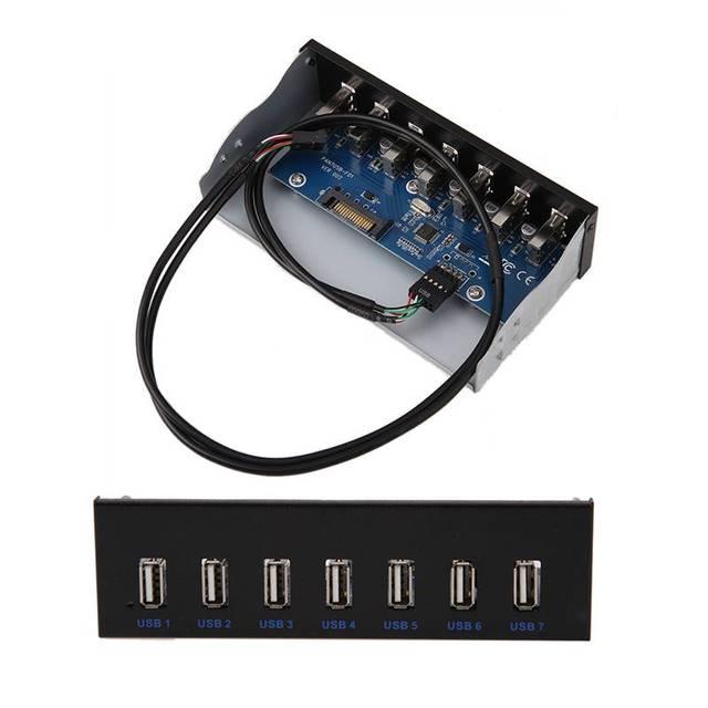 """7 Порт USB 3.0 Концентратор Для 5.25 """"CD-ROM Отсек Передней Панели Диск Отсек Для Windows 10/8/7 Vista, Windows XP"""