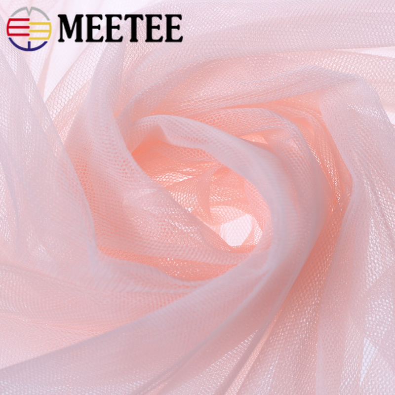 Meetee 5Meter 1 6M Width Soft Netting Lace Fabric Mosquito Net DIY Handmade Material for Clothing Curtain Skirt Accessory FA201 in Fabric from Home Garden