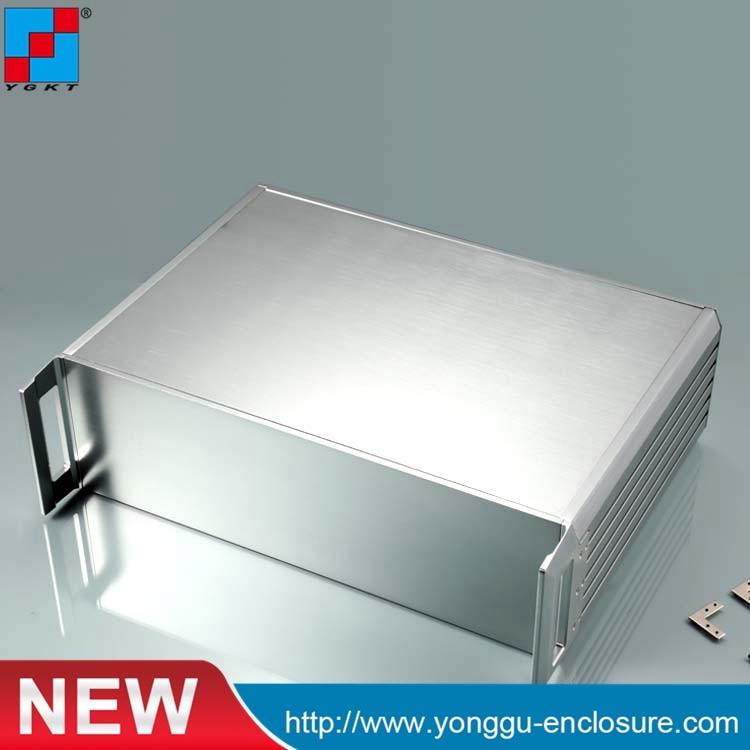 84holes  Case445*133.4-300( w*h-l)  3U-aluminum instrument chassis Aluminum Box Enclosure 3206 amplifier aluminum rounded chassis preamplifier dac amp case decoder tube amp enclosure box 320 76 250mm