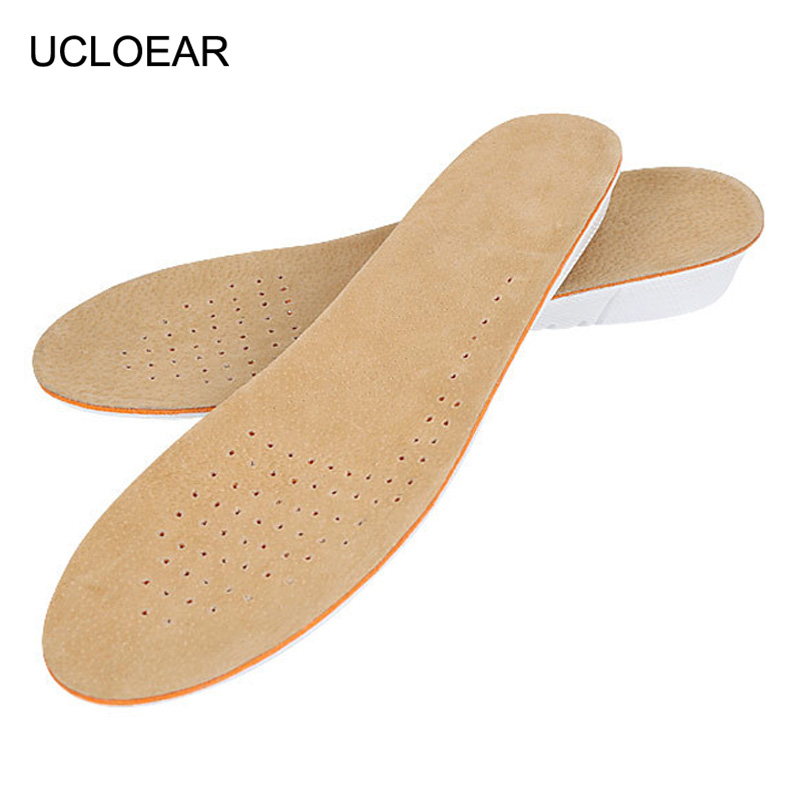 100% True Ucloear Height Increase Insole Comfortable Insoles Pigskin Shoe Inserts Breathable Shoes Pad Shoes Insoles For Shoes Men Women Bright Luster Shoe Accessories Insoles