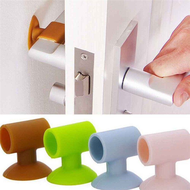 Home Decor Latest Collection Of 1pcs Creative Wall Thickening Mute Door Protective Pad Fenders Rubber Fender Handle Door Lock Protection Wall Stick Home Decor