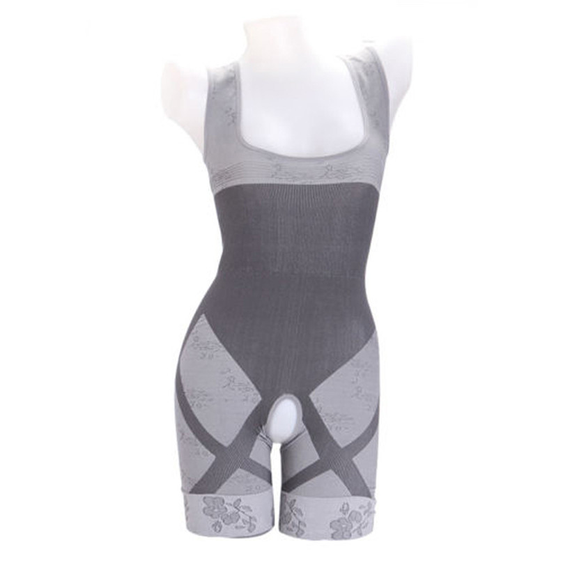 2019 NEW Women Slimming Bamboo Charcoal Thermal Body Shaper Full Body Control Bodysuit Sports Bras #3J07 (8)