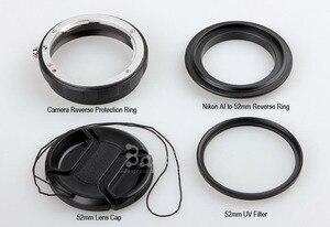 Image 2 - Kit de anillo de protección inversa de lente Macro 4 en 1 ai a 52mm cpl uv filtro cap anillo adaptador para d80 d90 d3100 d3200 d5100 d5200 d7000