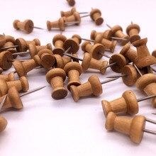 Thumb-Tacks Push-Pins Cork-Boards Decorative Wood on of Maps-Pack Used 60PCS