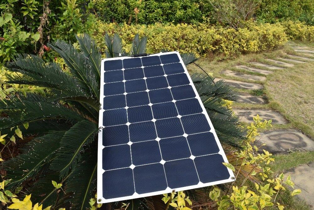 18V 100watt flexible ETFE solar panel solar module boat RV,by sunpower solar cell, solar panel for 12V RV boat charging battery