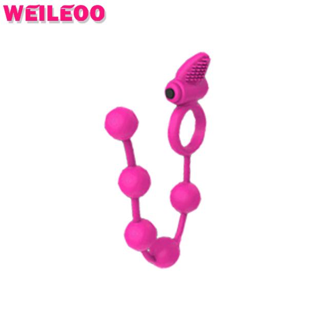 Cadeia de talão de silicone anel peniano vibratório penis anel vibrador cockring anneau pênis adulto brinquedos do sexo para homens brinquedos sexuais para casais